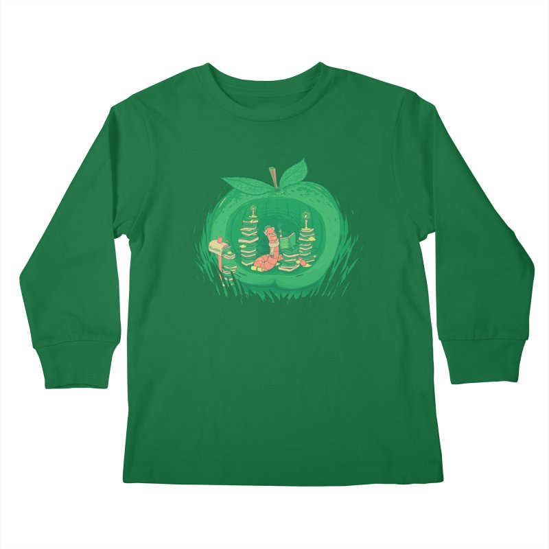 Bookworm's Haven Kids Longsleeve T-Shirt by Made With Awesome