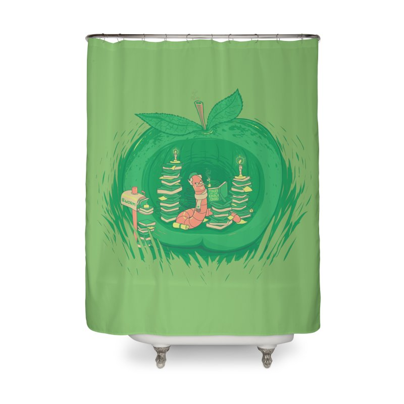 Bookworm's Haven Home Shower Curtain by Made With Awesome