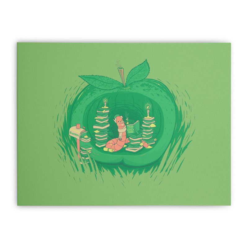 Bookworm's Haven Home Stretched Canvas by Made With Awesome