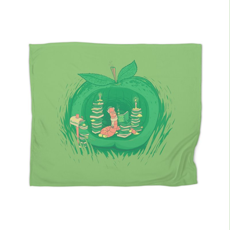 Bookworm's Haven Home Fleece Blanket Blanket by Made With Awesome