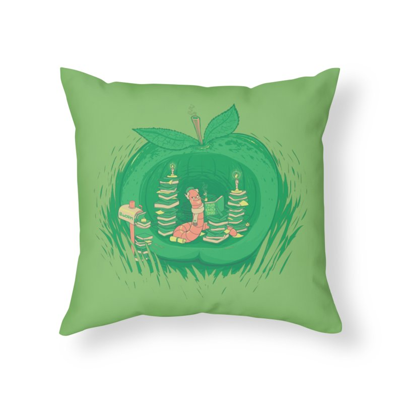 Bookworm's Haven Home Throw Pillow by Made With Awesome
