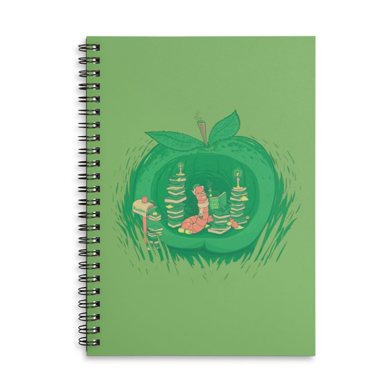 Bookworm's Haven Accessories Lined Spiral Notebook by Made With Awesome