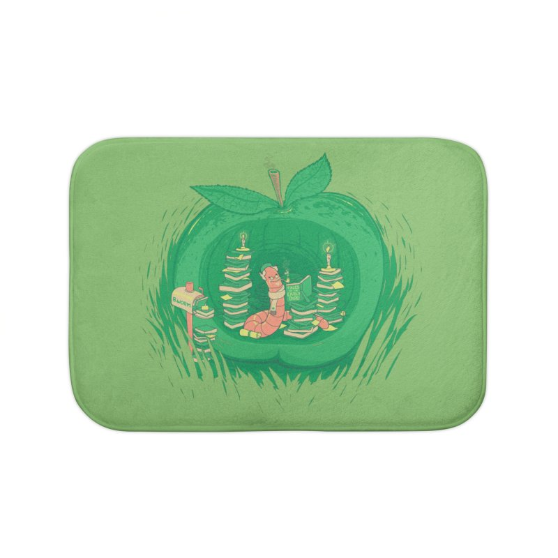 Bookworm's Haven Home Bath Mat by Made With Awesome