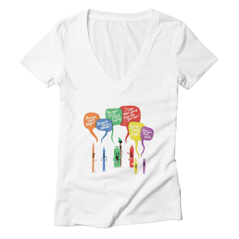 Complimentary Colors Women's Deep V-Neck V-Neck by Made With Awesome