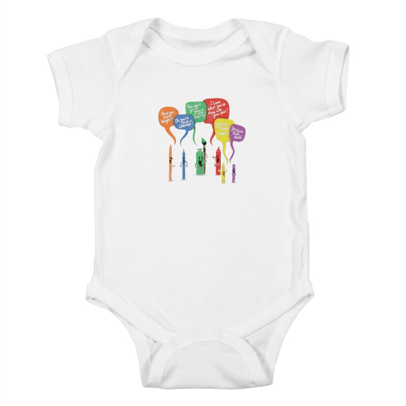 Complimentary Colors Kids Baby Bodysuit by Made With Awesome