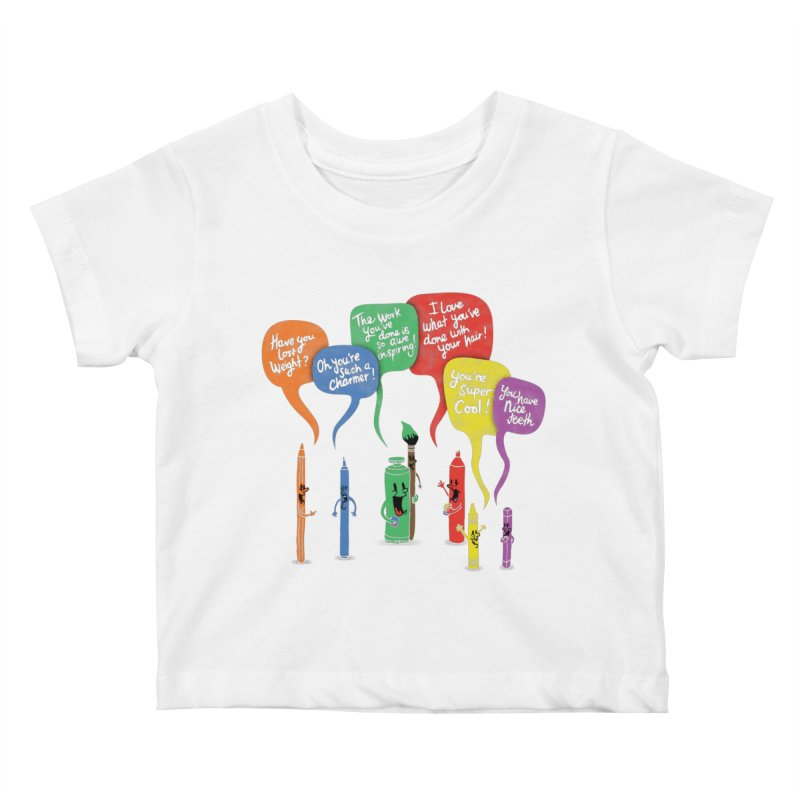 Complimentary Colors Kids Baby T-Shirt by Made With Awesome