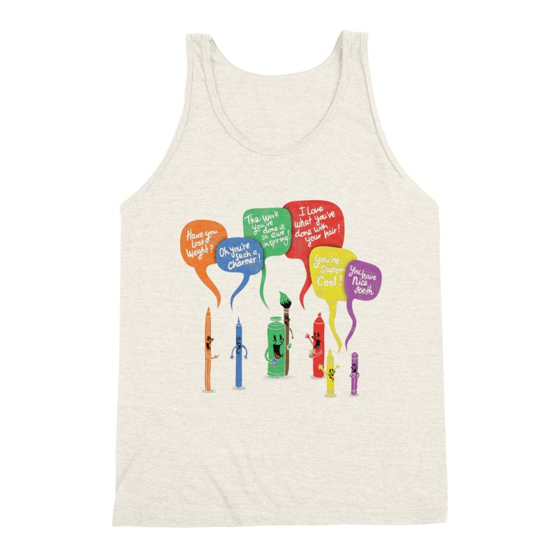 Complimentary Colors Men's Triblend Tank by Made With Awesome