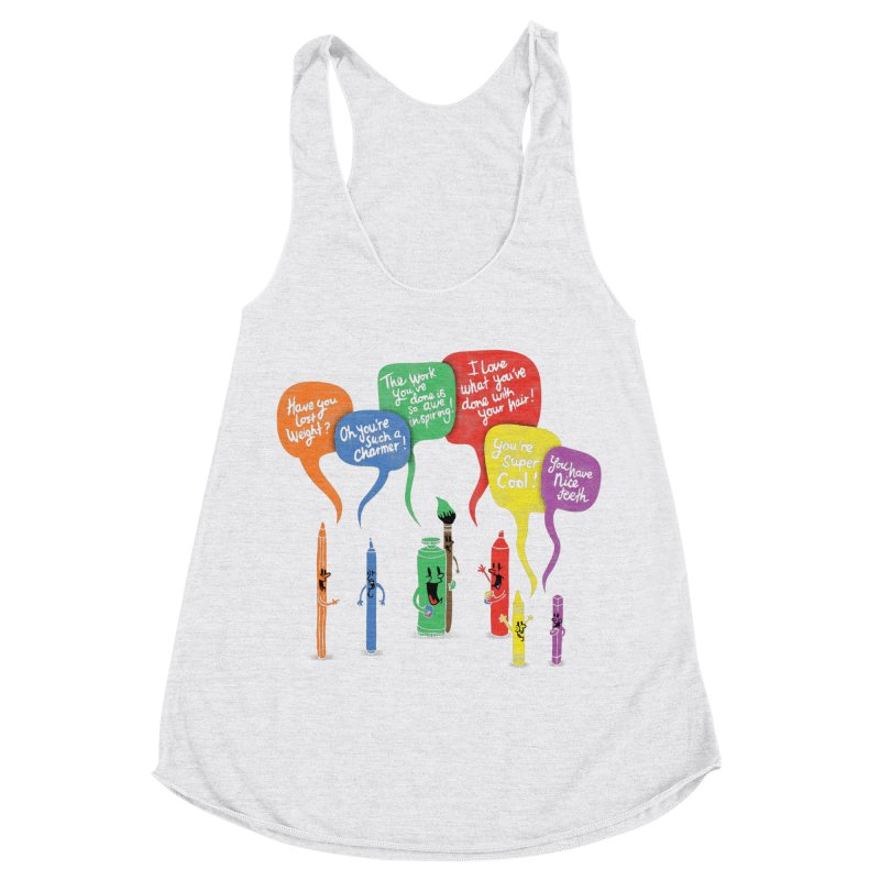 Complimentary Colors Women's Racerback Triblend Tank by Made With Awesome