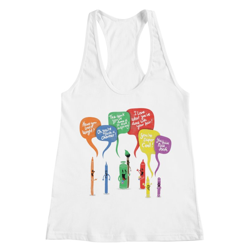 Complimentary Colors Women's Racerback Tank by Made With Awesome