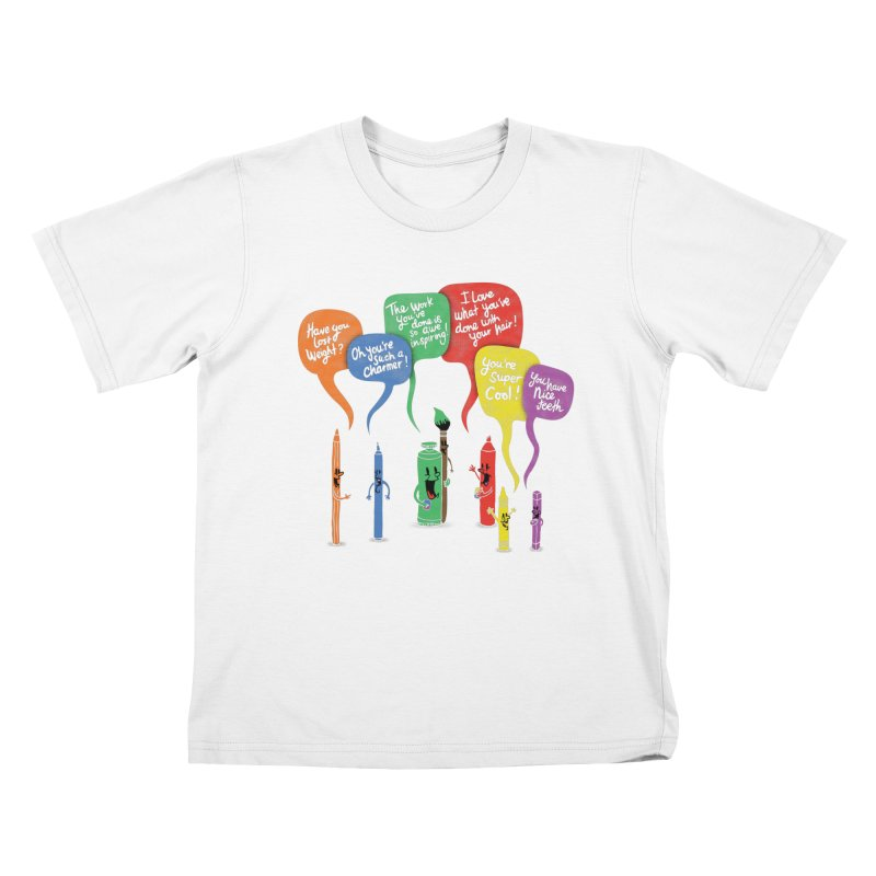 Complimentary Colors Kids T-Shirt by Made With Awesome