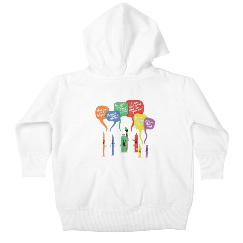 Complimentary Colors Kids Baby Zip-Up Hoody by Made With Awesome