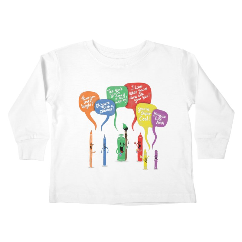 Complimentary Colors Kids Toddler Longsleeve T-Shirt by Made With Awesome