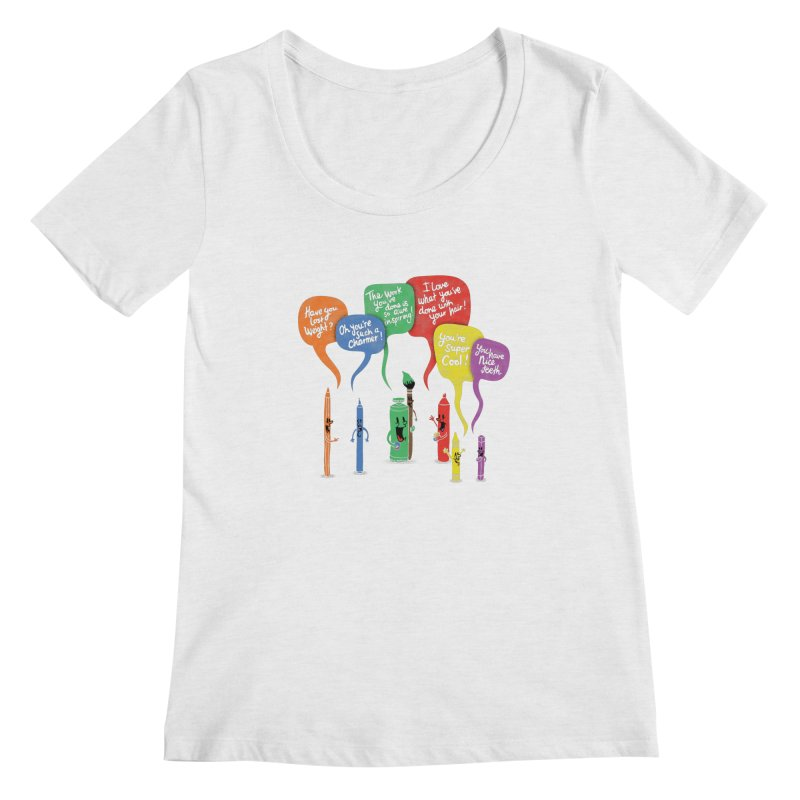 Complimentary Colors Women's Regular Scoop Neck by Made With Awesome