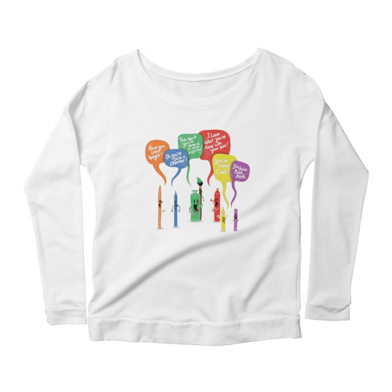 Complimentary Colors Women's Scoop Neck Longsleeve T-Shirt by Made With Awesome