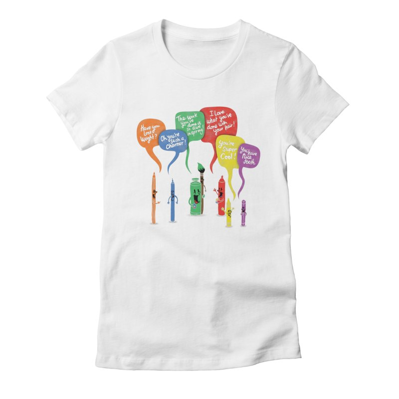 Complimentary Colors Women's Fitted T-Shirt by Made With Awesome