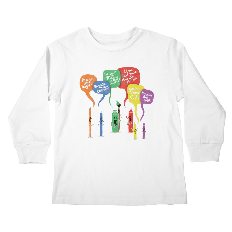 Complimentary Colors Kids Longsleeve T-Shirt by Made With Awesome