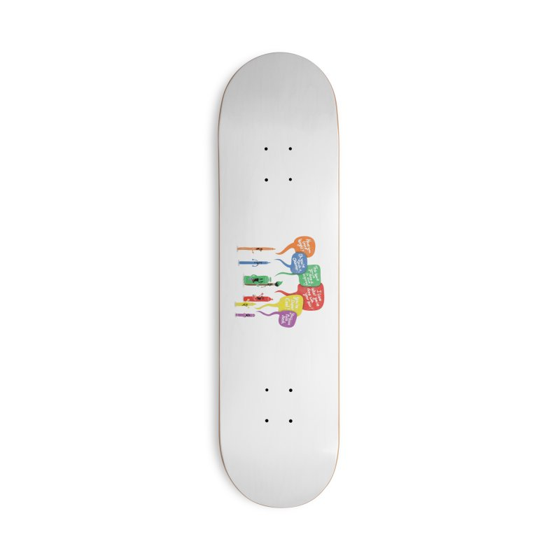 Complimentary Colors Accessories Deck Only Skateboard by Made With Awesome