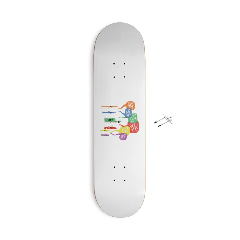 Complimentary Colors Accessories With Hanging Hardware Skateboard by Made With Awesome
