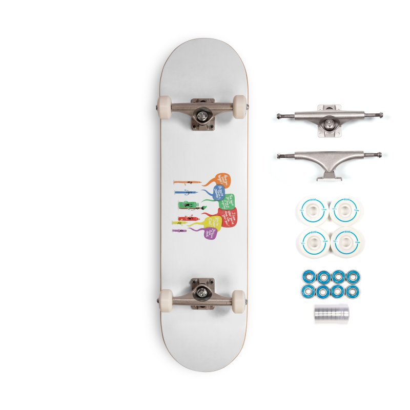 Complimentary Colors Accessories Complete - Basic Skateboard by Made With Awesome