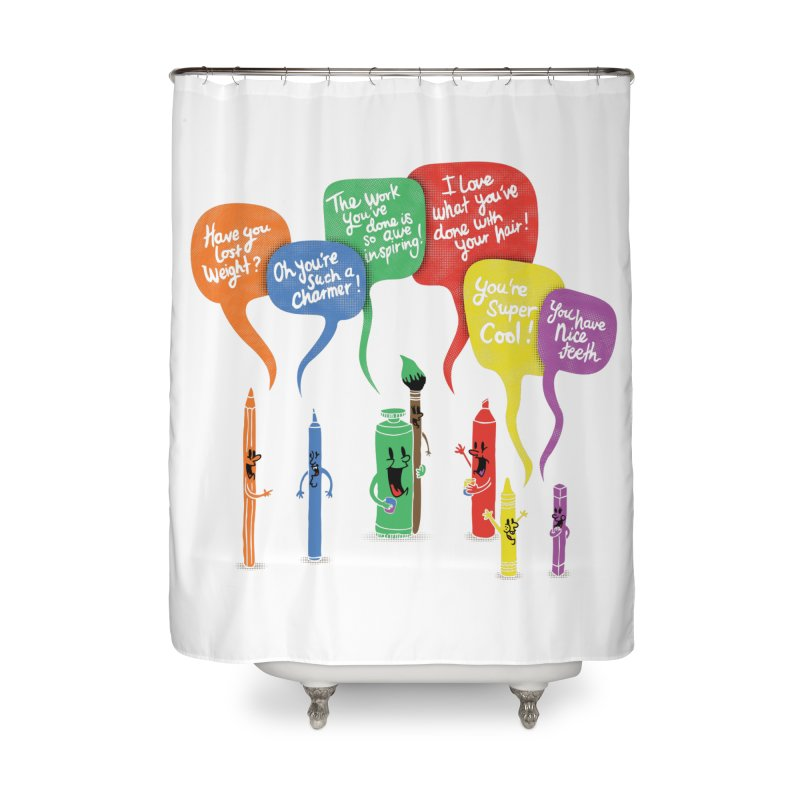 Complimentary Colors Home Shower Curtain by Made With Awesome