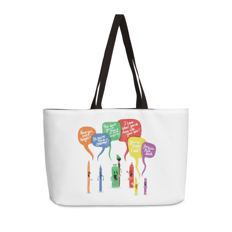 Complimentary Colors Accessories Weekender Bag Bag by Made With Awesome