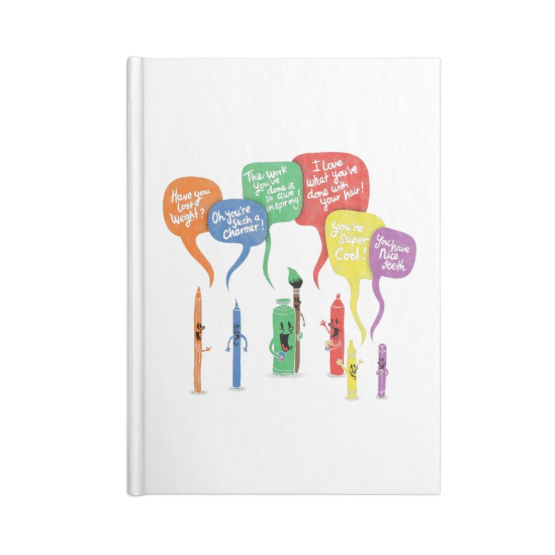 Complimentary Colors Accessories Lined Journal Notebook by Made With Awesome