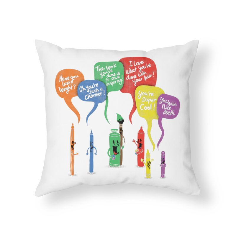 Complimentary Colors Home Throw Pillow by Made With Awesome