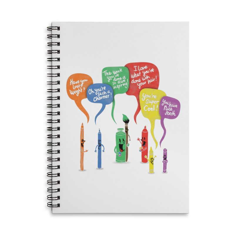 Complimentary Colors Accessories Lined Spiral Notebook by Made With Awesome