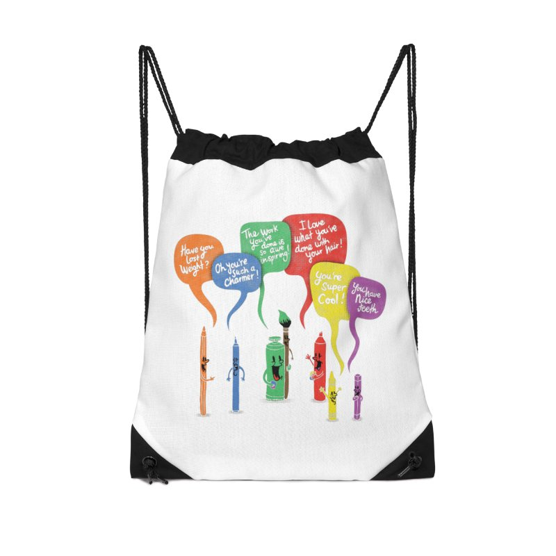 Complimentary Colors Accessories Drawstring Bag Bag by Made With Awesome