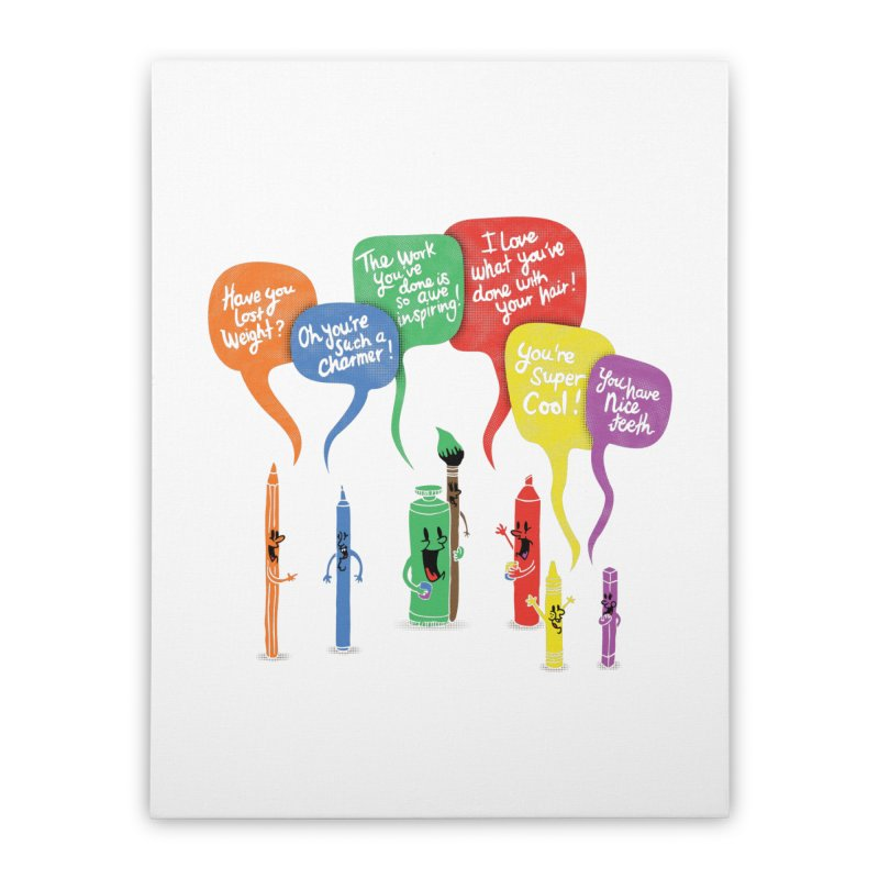 Complimentary Colors Home Stretched Canvas by Made With Awesome