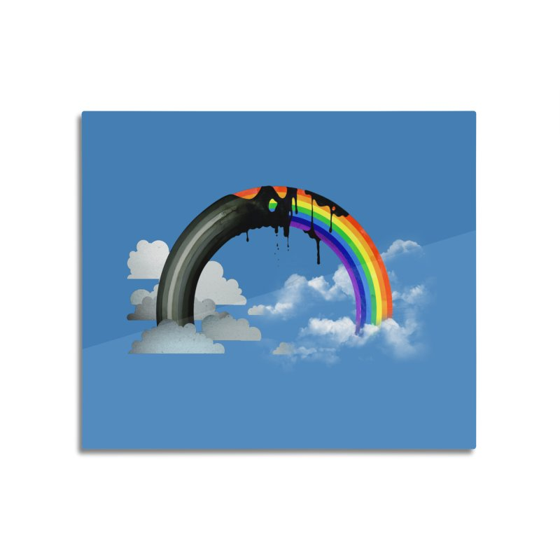 Meltbow Home Mounted Aluminum Print by Made With Awesome
