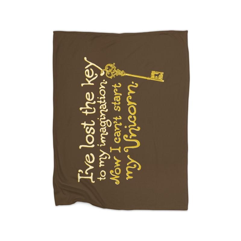 I've Lost The Key Home Fleece Blanket Blanket by Made With Awesome