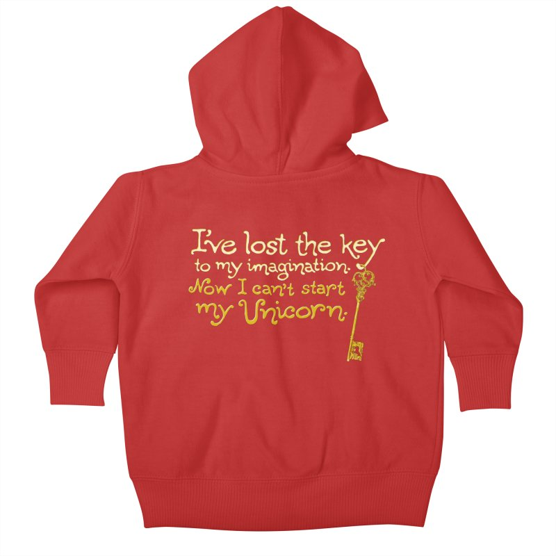I've Lost The Key Kids Baby Zip-Up Hoody by Made With Awesome