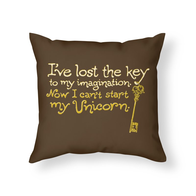 I've Lost The Key Home Throw Pillow by Made With Awesome