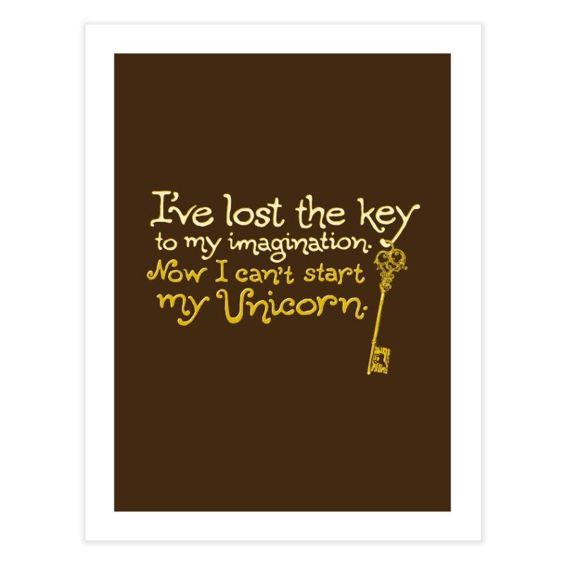 I've Lost The Key Home Fine Art Print by Made With Awesome