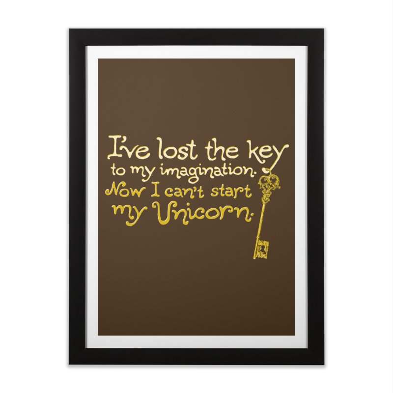 I've Lost The Key Home Framed Fine Art Print by Made With Awesome
