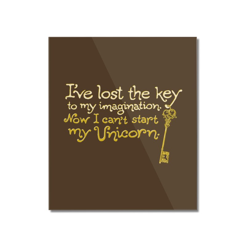 I've Lost The Key Home Mounted Acrylic Print by Made With Awesome