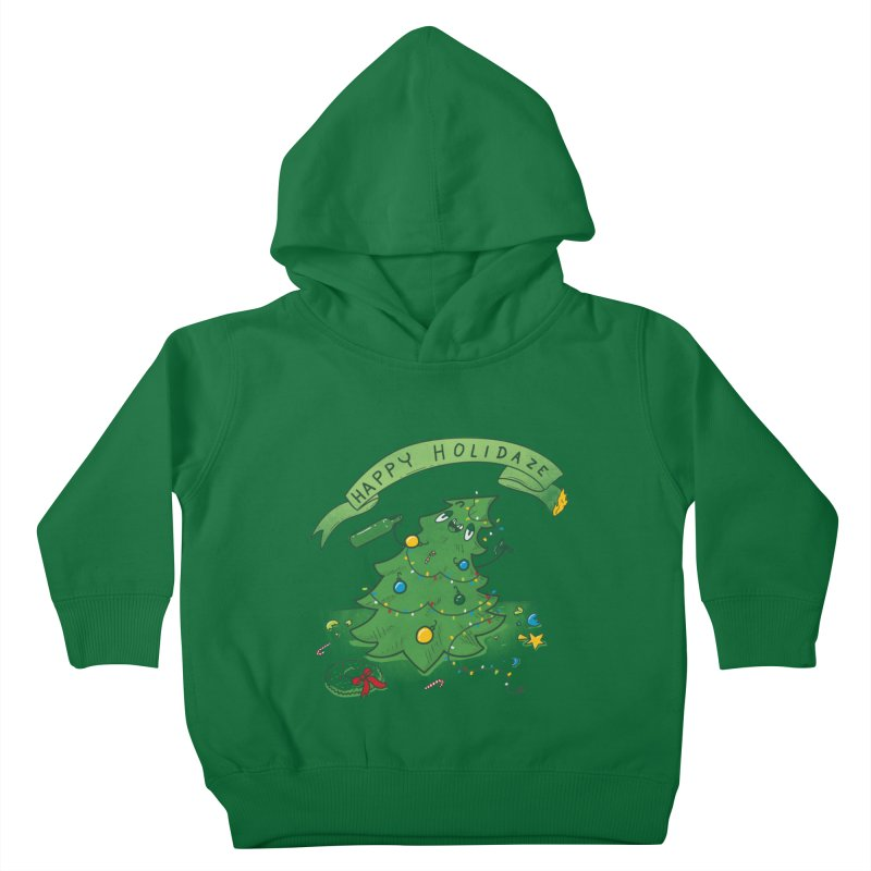 Happy Holidaze Kids Toddler Pullover Hoody by Made With Awesome