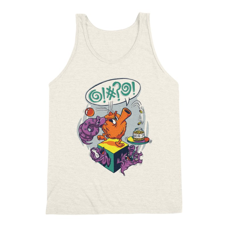 Quit Your Cussing! Men's Triblend Tank by Made With Awesome