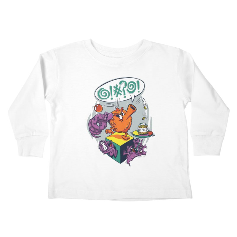 Quit Your Cussing! Kids Toddler Longsleeve T-Shirt by Made With Awesome