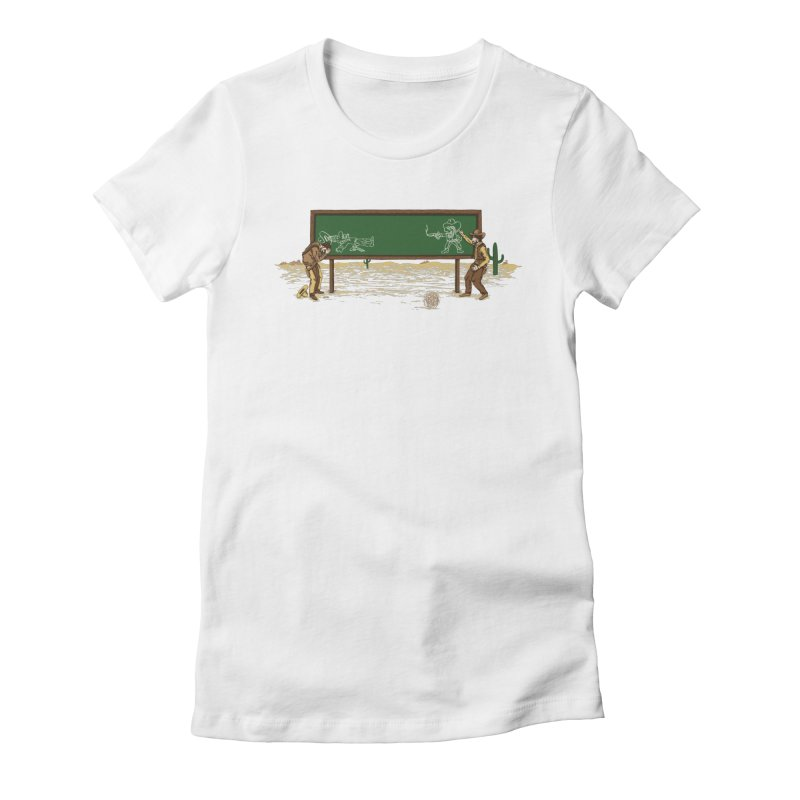 Quick Draw Women's Fitted T-Shirt by Made With Awesome