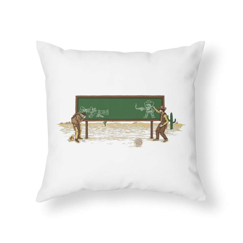Quick Draw Home Throw Pillow by Made With Awesome