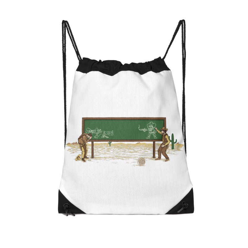 Quick Draw Accessories Drawstring Bag Bag by Made With Awesome