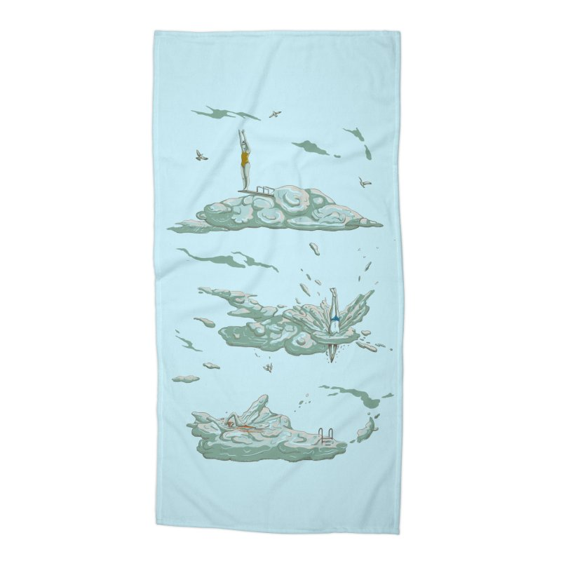 Sky Dive Accessories Beach Towel by Made With Awesome
