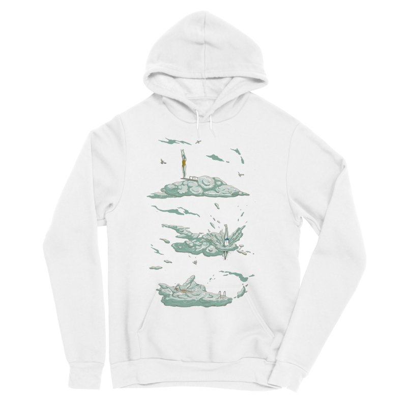 Sky Dive Men's Sponge Fleece Pullover Hoody by Made With Awesome