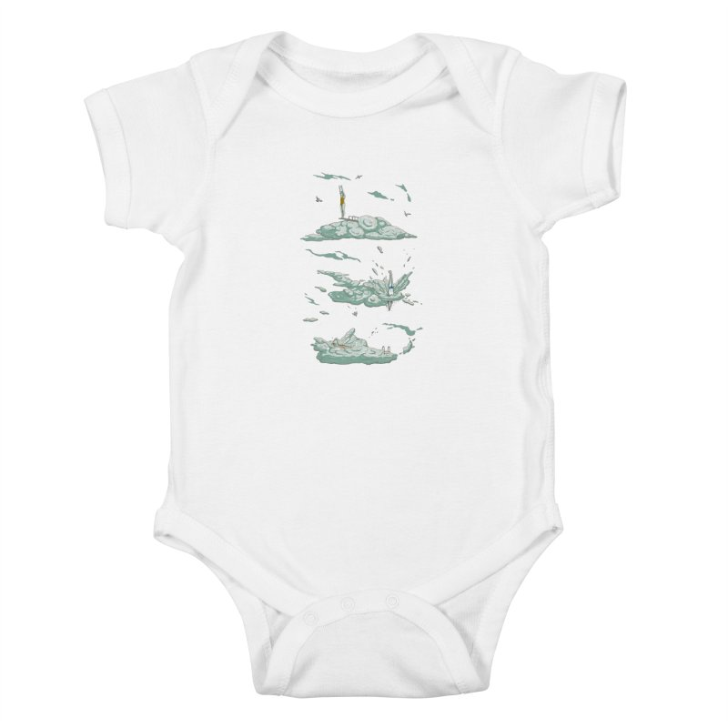 Sky Dive Kids Baby Bodysuit by Made With Awesome