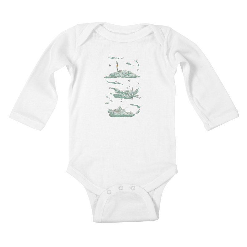 Sky Dive Kids Baby Longsleeve Bodysuit by Made With Awesome