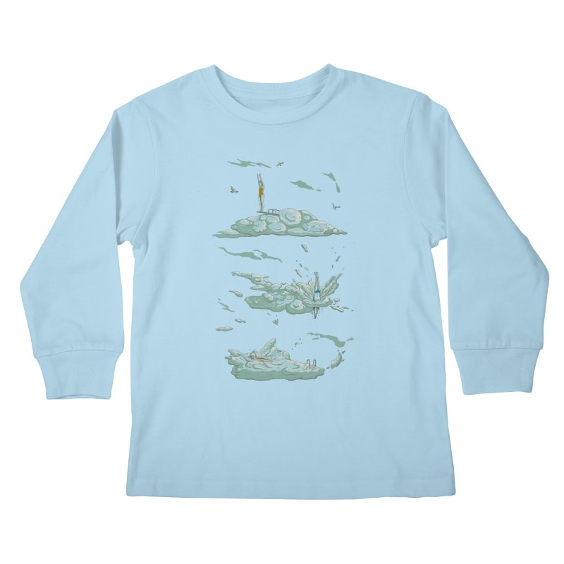 Sky Dive Kids Longsleeve T-Shirt by Made With Awesome