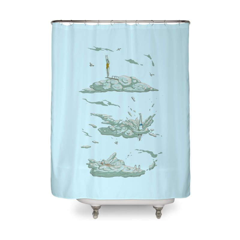 Sky Dive Home Shower Curtain by Made With Awesome