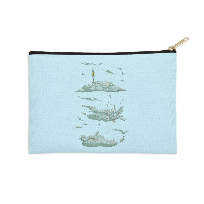 Sky Dive Accessories Zip Pouch by Made With Awesome